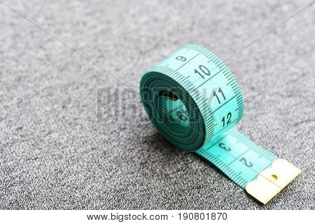 Small Roll Of Blue Tape For Measuring Cloth