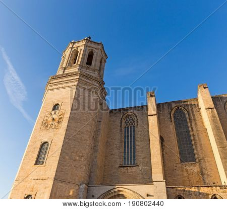 Santa Maria Cathedral. Gerona, Costa Brava, Catalonia, Spain.