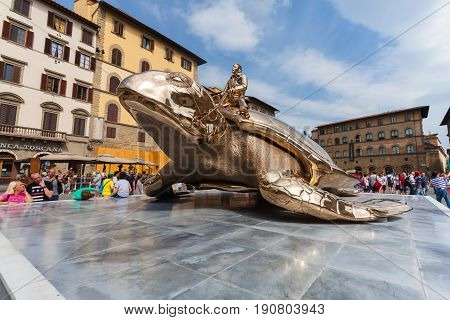 Florence ITALY- September 10 2016: View on sculpture