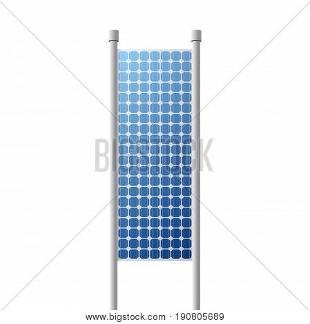 Photovoltaic solar Panel renewable energy Source. Vector Illustration