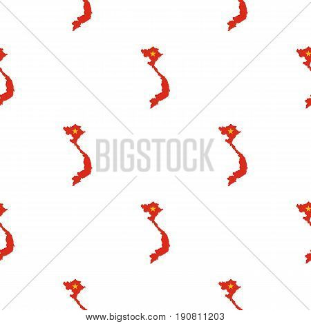 Map of Vietnam pattern seamless background in flat style repeat vector illustration