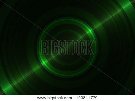 green circle technology abstract background, round overlap digital template, vector illustration