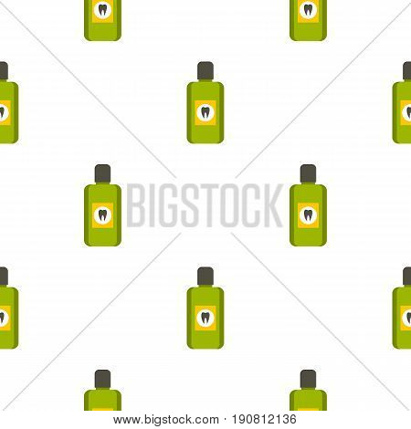 Mouthwash pattern seamless background in flat style repeat vector illustration