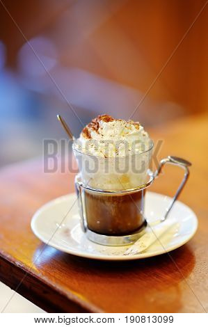 Cup Of Coffee Or Hot Chocolate With Whipped Cream