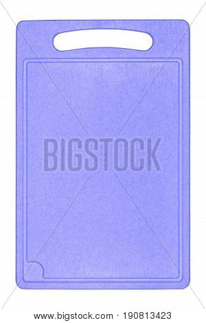 Professional plastic cutting board isolated on white background