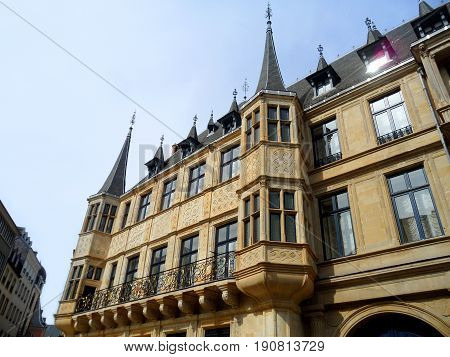 Gorgeous Facade of The Palais Grand Ducal in Luxembourg city, Luxembourg