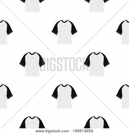 Baseball shirt pattern seamless background in flat style repeat vector illustration