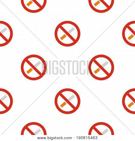 No smoking pattern seamless background in flat style repeat vector illustration