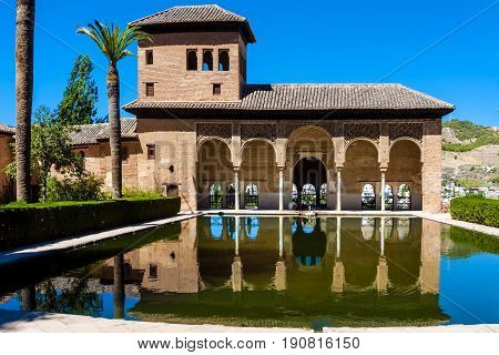 Alhambra heritagr palace in Granada, Andalusia. Spain