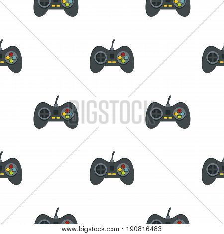 Video game controller pattern seamless background in flat style repeat vector illustration