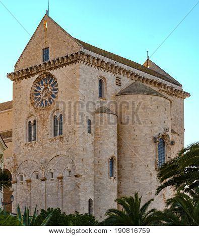 Beautiful church of the town of Trani in Apulia. Italy