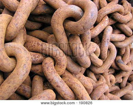 rusty chain texture poster