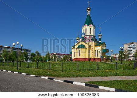 Holy spirit orthodox ancient monastery in Belgorod, Russian city