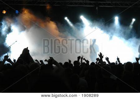 Concert menigte