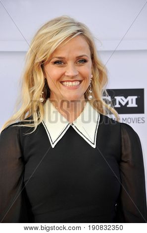 Reese Witherspoon at the AFI Life Achievement Award Gala Tribute To Diane Keaton held at the Dolby Theatre in Hollywood, USA on June 8, 2017.