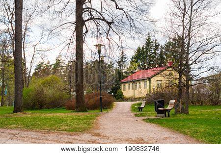 view of in park Imatra, Suomi