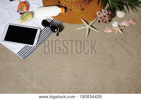 beach vacation background