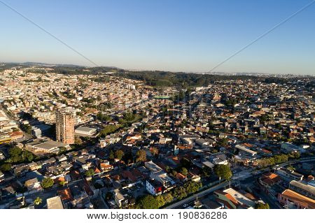 Aerial view of Itaquera in Sao Paulo, Brazil