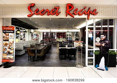 Kota Kinabalu,Sabah-May 27,2017:The Secret Recipte outlet at IMAGO Sabah shopping complex in Kota Kinabalu,Sabah,Malaysia.It's a Malaysian halal certified cafe chain company established since 1997
