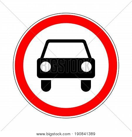 Illustration of Road Prohibitory Sign No Motor Vehicles Except Motorcycles