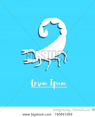 Creepy Scorpion Template - Vector Stock Illustration