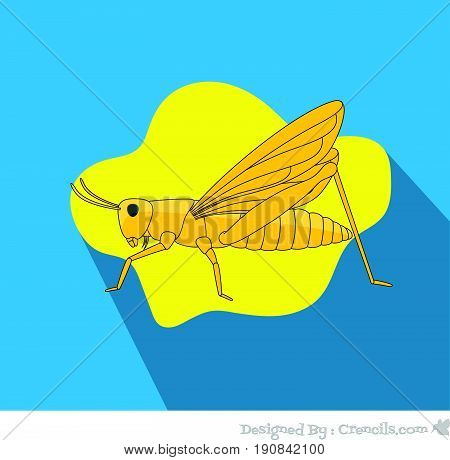 Creepy Grasshopper Insect - Vector Stock Illustration