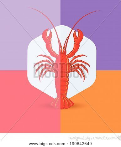 Creepy Crayfish Insect - Vector Stock Illustration