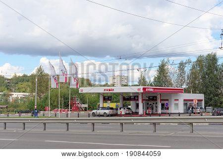 Nizhny Novgorod Russia. - September 062016 Automobile refueling LUKOIL