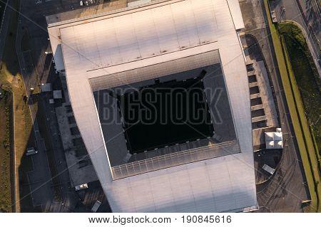 SAO PAULO, BRAZIL - CIRCA JUNE 2017: Corinthians Stadium in Itaquera, Sao Paulo, Brazil