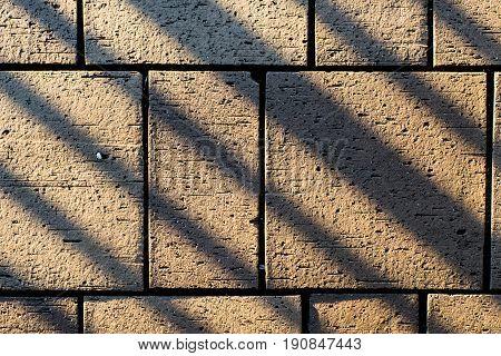 Concrete Paving Block Stones With Angular Line Shadows