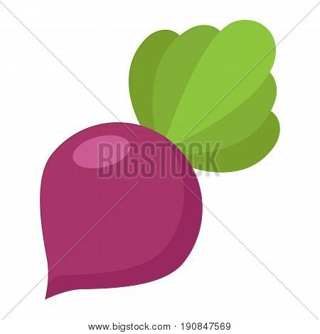 Beet flat icon, vegetable and diet, vector graphics, a colorful solid pattern on a white background, eps 10.