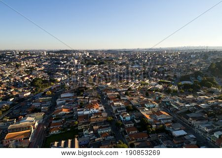 Aerial View of Itaquera District in Sao Paulo, Brazil