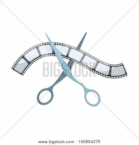Installation of film.Making moviesingle icon in cartoon style vector symbol stock illustration .