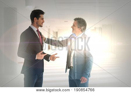 Businessmen having discussion in new office