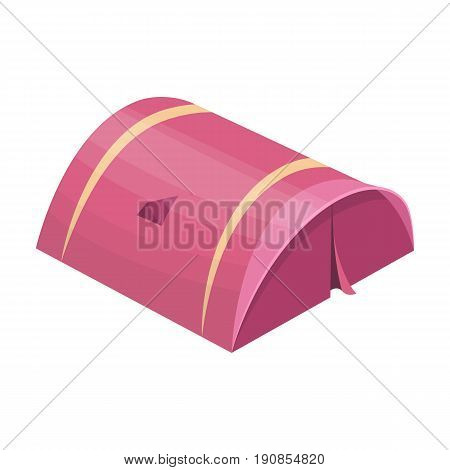 The tent is round.Tent single icon in cartoon style vector symbol stock illustration .