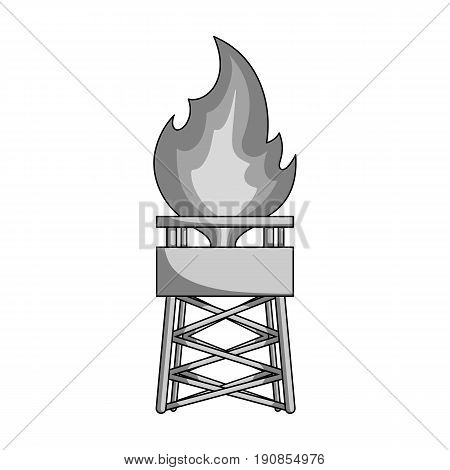 Gas tower.Oil single icon in monochrome style vector symbol stock illustration .