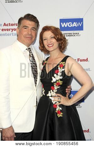 LOS ANGELES - JUN 11:  Bryan Batt, Kerry O'Malley at the Actors Fund's 21st Annual Tony Awards Viewing Party at the Skirball Cultural Center on June 11, 2017 in Los Angeles, CA