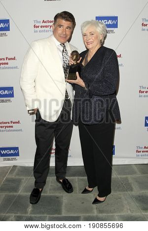LOS ANGELES - JUN 11:  Brian Batt, Betty Buckley at the Actors Fund's 21st Annual Tony Awards Viewing Party at the Skirball Cultural Center on June 11, 2017 in Los Angeles, CA