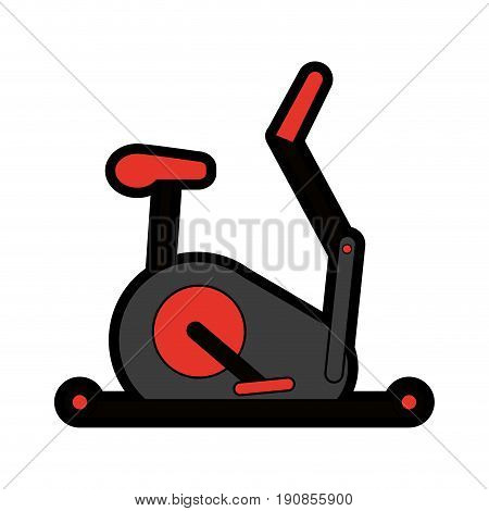 stationary bicycle sport flat illustration icon vector design graphic