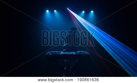 Disc Jockey, Dj With Laser Light