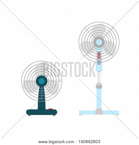 Ventilation Devices vector illustration. Cooling Temperature climate control device