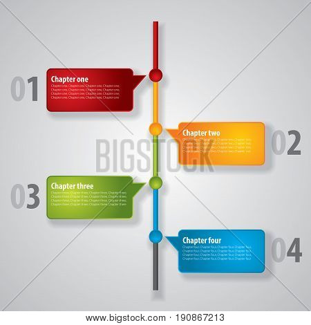 Modern Diagram Poster using for business and a word chapter with number vector illustration