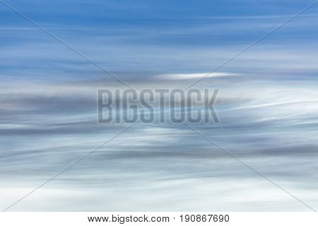 Vibrant abstract cloud formation at sunset sky