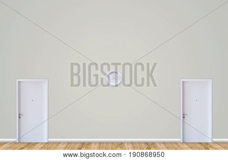 two door room two ways concept white doors difference ways for select room concept.