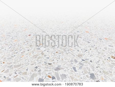 White texture and surface of terrazzo floor for background.