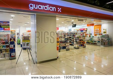 Kota Kinabalu,Sabah-May 29,2017:View of Guardian Pharmacy outlet in IMAGO shopping mall at Kota Kinabalu,Sabah,Malaysia.It is the largest health, beauty & personal care chain in Malaysia,with more than 400 stores nationwide