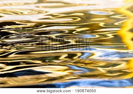 colored surface of the water as a background
