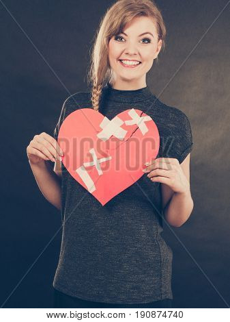 Smiling Woman With Healed Heart.