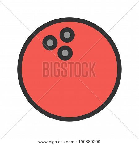 Bowling, casino, pin icon vector image. Can also be used for casino. Suitable for use on web apps, mobile apps and print media.
