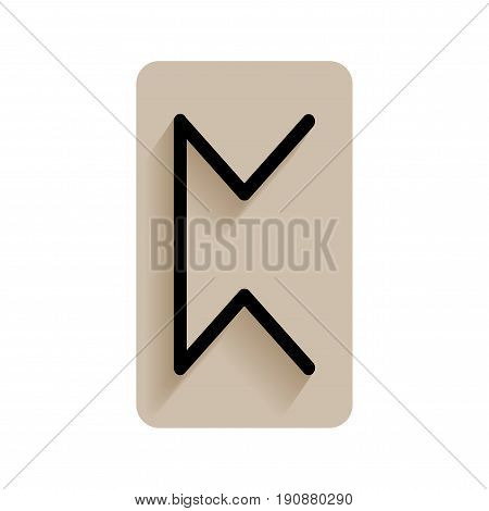 Perthro. Runic alphabet and letters. Flat icon on white background for divination, prediction. Vector